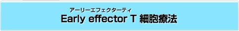 Early effector T(アーリーエフェクターティ) 細胞療法